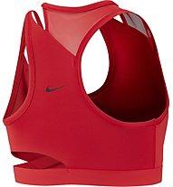 Nike Swoosh Sports (cup B) - reggiseno sportivo a supporto medio - donna, Red