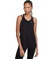 Nike NK Dry Ess Elastika - Top fitness - donna, Black