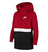 Nike NSW Club Big Kids' (Boys') 1/2-Zip Hoodie - Kapuzenpullover - Kinder, Red