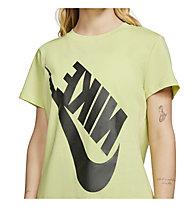 Nike NSW Festival SS - T-Shirt - donna, Black/Light Green
