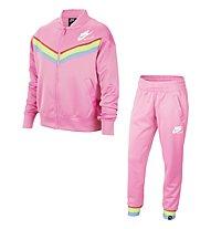 Nike NSW Heritage Big Kids' (Girls') Tracksuit - Trainingsanzug - Mädchen, Pink