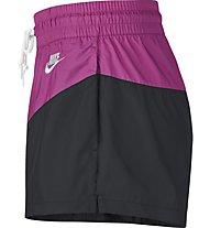 Nike Sportswear Heritage Women's Woven Shorts - Trainingshose kurz - Damen, Black/Pink