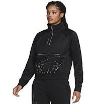 Nike NSW Icon Clash W's 1/4-Zip - pullover - donna, Black