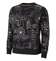 Nike NSW Icon Clash W's - felpa - donna, Black/Silver