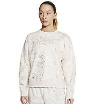Nike NSW Icon Clash W's - felpa - donna, White/Golden