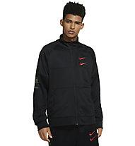 Nike NSW Swoosh Men's Poly-Knit - Trainingsjacke - Herren, Black