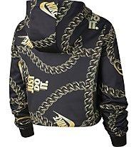 Nike Sportswear Cropped Printed - felpa con cappuccio - donna, Black