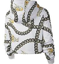 Nike Sportswear Cropped Printed - felpa con cappuccio - donna, White