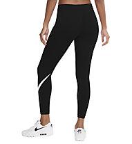 Nike Mid-Rise Swoosh - pantaloni fitness - donna, Black