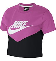Nike Sportswear Heritage Women's Short-Sleeve Top - T-Shirt - Damen, Pink/Black