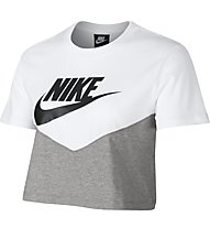 Nike Sportswear Heritage Women's Short-Sleeve Top - T-Shirt - Damen, White/Grey