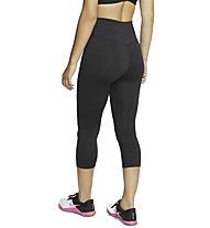 Nike One - pantaloni fitness 3/4 - donna, Black