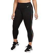Nike One Rainbow Ladder 7/8 - pantaloni fitness - donna, Black