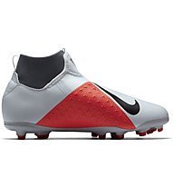 Nike Phantom Vision Academy Junior Dynamic Fit MG - Fußballschuh Multiground - Kinder, Light Grey/Red