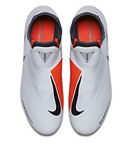 Nike Phantom VSN Academy DF MG - Fußballschuh Multiground, Light Grey/Orange