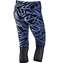 Nike Power Epic Lux - Damen Capri, Blue/Black