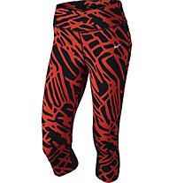 Nike Power Epic Lux - Damen Capri, Red/Black