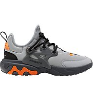 Nike Presto React - sneakers - bambino, Grey/Black/Orange