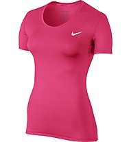 Nike Pro Cool - Trainingsshirt - Damen, Pink/White