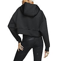 Nike Pro Fleece - felpa con cappuccio - donna, Black
