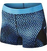 Nike Pro Hypercool - kurze Fitnesshose - Damen, Blue/Black