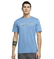 Nike Pro M's Graphic - T-Shirt - Herren , Blue