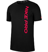 Nike Pro Men's Short-Sleeve - T-shirt - uomo, Black/Red