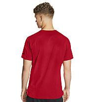 Nike Pro Men's Short-Sleeve - T-shirt - uomo, Red/Black