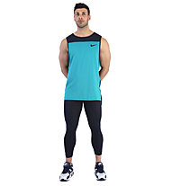 Nike Pro Men Tank - T-Shirt Training ärmellos - Herren, Blue/Black
