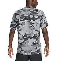 Nike Pro M's Short-Sleeve Camo - Trainingshirt - Herren, Black/Grey