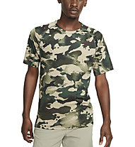 Nike Pro M's Short-Sleeve Camo - Trainingshirt - Herren, Black/Green