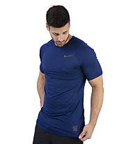 Nike Pro Short-Sleeve Top - T-Shirt Training - Herren, Blue
