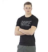Nike Pro - T-shirt fitness - uomo, Black