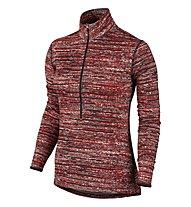 Nike Pro Warm Static Half-Zip Pullover Damen, LT Crimson/Black/Black/Black