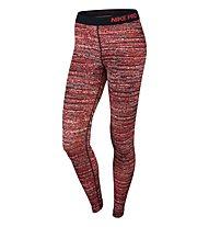 Nike Pro Warm Static Tights donna, LT Crimson/Black/Black