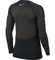 Nike Pro Warm Top LS Champagne - Langarmschirt Training - Damen, Black
