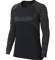 Nike Pro Warm Top LS Champagne - Langarmschirt Training - Damen, Black
