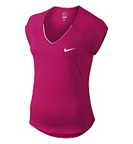 Nike Pure Top - T-shirt tennis donna, Fuchsia