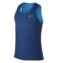 Nike Racing Print Singlet - ärmelloses Shirt, Blue