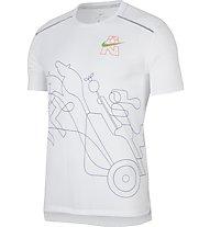 Nike Rise 365  Running Top - Laufshirt - Herren, White