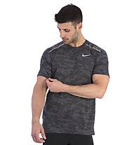 Nike Rise 365 Camo Running - maglia running - uomo, Black