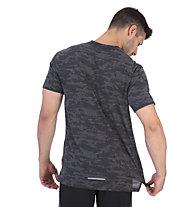 Nike Rise 365 Camo - T-Shirt Running - Herren, Black