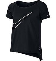 Nike Running Dry - T-Shirt fitness - ragazza, Black