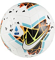 Nike Serie A Strike FA19 - pallone da calcio, White/Black/Blue/Orange