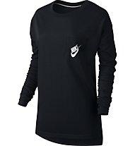 Nike Signal LS Tee Maglia a maniche lunghe fitness Donna, Black