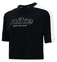 Nike Sportswear W's Short-Sleeve - T-Shirt - Damen, Black/White