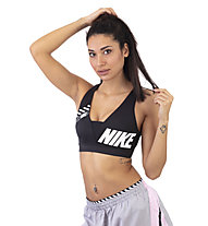 Nike Sport Distort Indy Plunge Light Support - Sport BH leichter Halt, Black