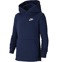 Nike Sportswear - felpa con cappuccio - ragazzo, Dark Blue/White