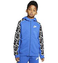 Nike Sportswear - giacca con cappuccio - ragazzo, Light Blue