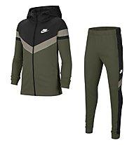 Nike NSW Big Kids' - Trainingsanzug - Kinder, Green/Black